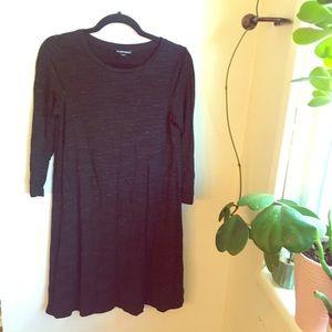 Hilary Radley Heathered Black shift dress